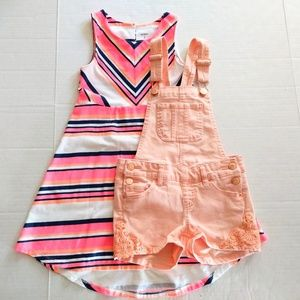 Other - Bundle of Girls Dress and Shortalls Size 7